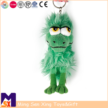 Custom high quality plush animal toy fur keychain