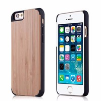 wholesale high quality handmade for wood iphone case for iphone 6 wood case cell phone wooden case factory price