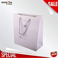 2016 Red sun printed orange twist paper handles Custom special paper bags shopping bag 100918