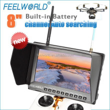 FEELWORLD 8'' built-in battery 5.8G 32CH diversity fpv monitor hdmi av transmission