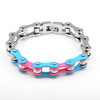 Charm Jewelry Three Colors Tone Ladies Crystal Bicycle Chain Bracelet Wholesale