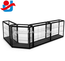 Hot shopping glass showcase, watch store display furniture,display cabinet with glass for sale