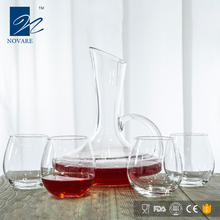 Best selling Slanted Glass Wine Decanter Red Wine Carafe with Handle