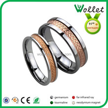 wollet gold plated mens expandable pair tungsten carbide wedding ring