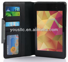 Wallet Leather stand Case Cover for New Google Nexus 7 2G Second Generation