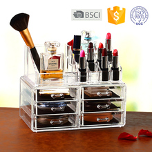 Factory price Acrylic Clear makeup Organizer With 6 drawers