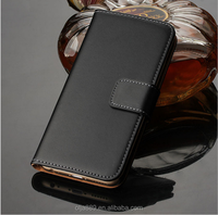 Leather wallet case with flip cover case for iphone 6