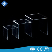 Fast delivery acrylic riser display clear shoes holder best quality