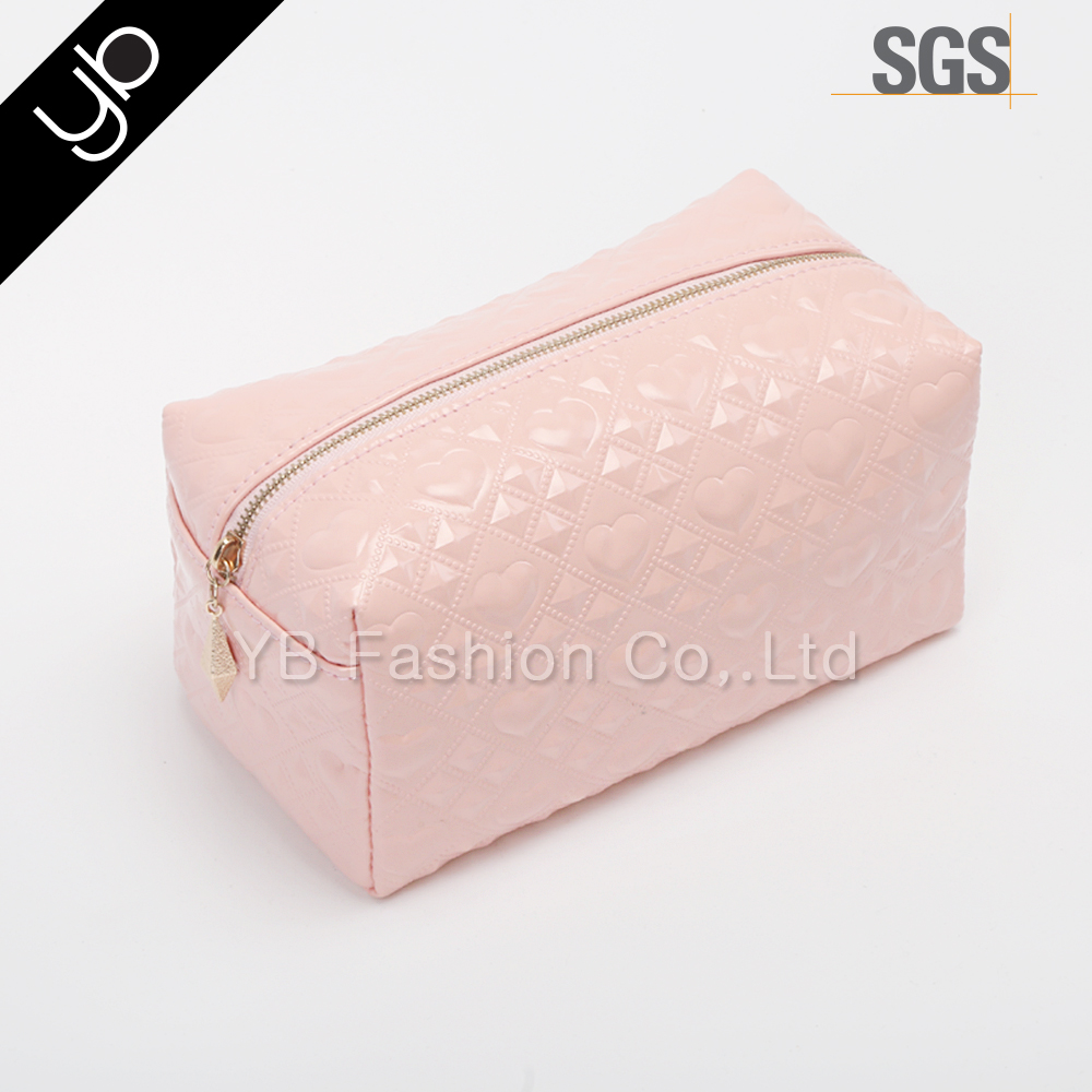 New design Fashion women Make up Bag Cosmetic hand Bag with zipper