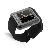 Wholesale hand touch led watch ce rohs smart watch U8 with pedometer bluetooth smart watch with speaker