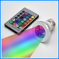 CE ROHS dimmable 24 keys remote rgb outdoor high power led solar spot light