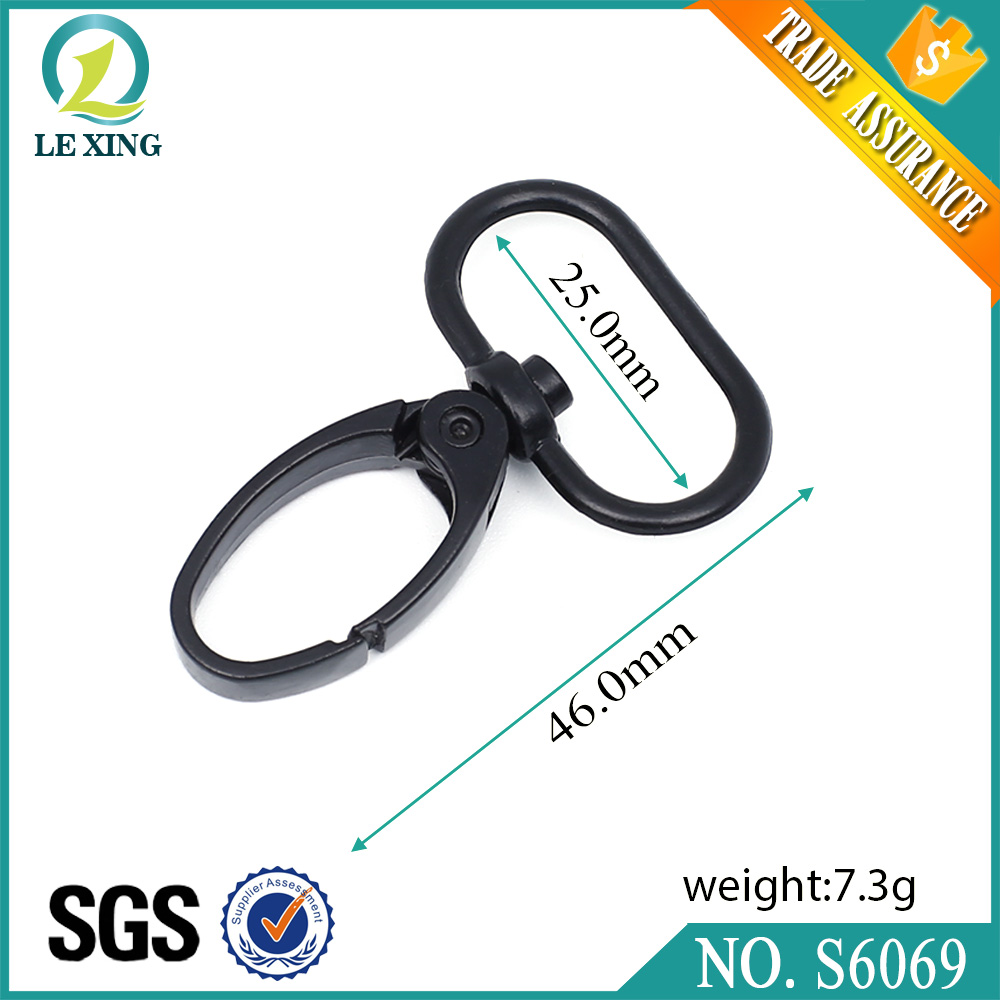 wholesale cheap flat snap hook with 16mm oval ring