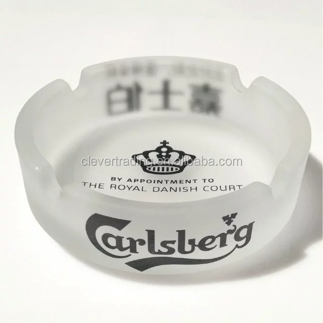 Wholesale frosted glass ashtray