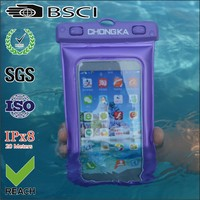 Transparent PVC Waterproof Phone Case With Shoulder Strap For Samsung Inch 5-6