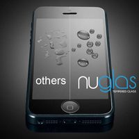 NUGLAS top quality hot-sale super clear screen film for iPhone 5 5c 5s anti-scratch tempered glass screen guard