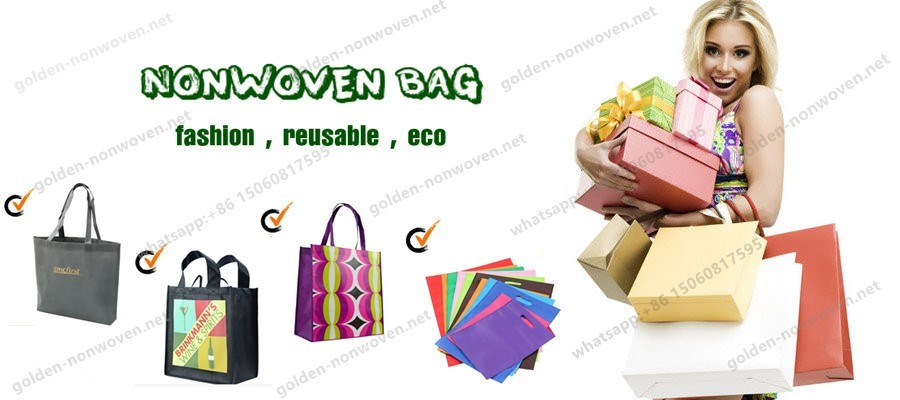 Golden Nonwoven Bag