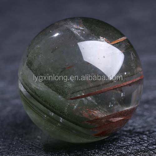 2017 Hot Natural green Phantom/Ghost quartz crystal ball/ sphere for sale - Home decotation