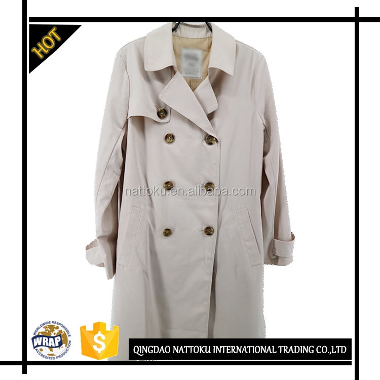2017 Latest Fashion Designs Long Wind Trench Coat For Women