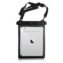 Clear transparent Waterproof Dirtproof PVC Case Bag with shoulder strap for iPad air or mini