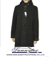 Sunnytex New OEM Western style high quality winter warm outdoor men pea coat