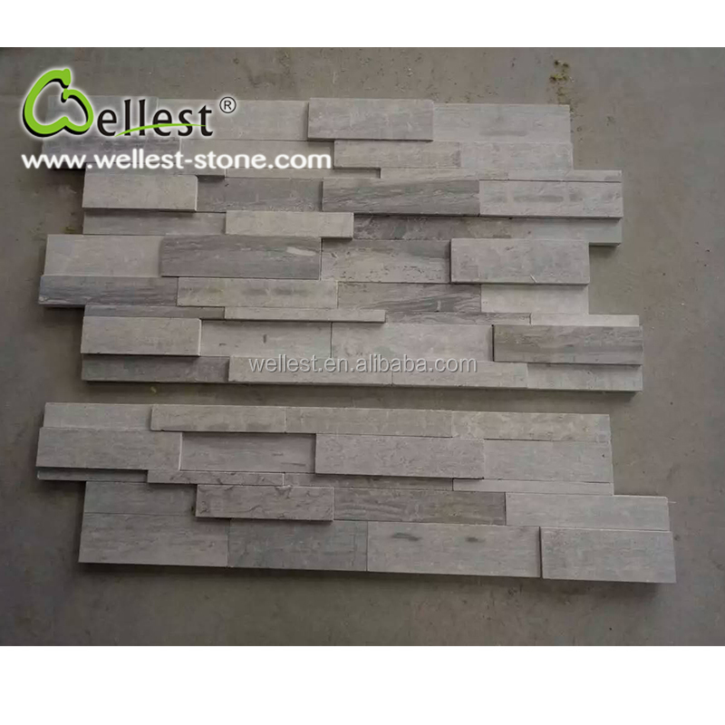 Wholesale Factory Natural Blue Wood Cheap Culture Stone for Wall Cladding