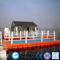 marine plastic polyethylene plastic pontoon floats for resort