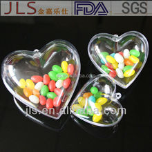 heat transfer printing plastic heart shape box for wedding