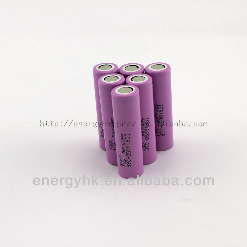 2014 best selling Samsung 18650 2600 mah 3.7v rechargeable battery over stock