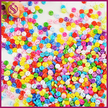 2-Hole 6mm Mini Round Shape all types of assorted craft plastic resin buttons