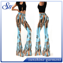 The Latest Women's Bottom Printed Long Pants Yoga Wide Leg Pants