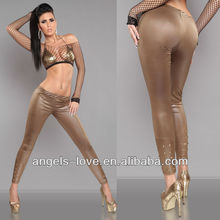 Wholesale mature sexy pictures tight faux leather leggings for women