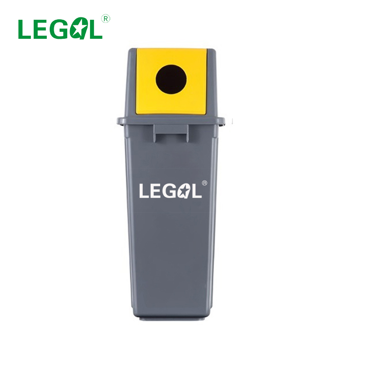 LD-60A-3 60L Plastic Trash Can Outdoor Waste Bin