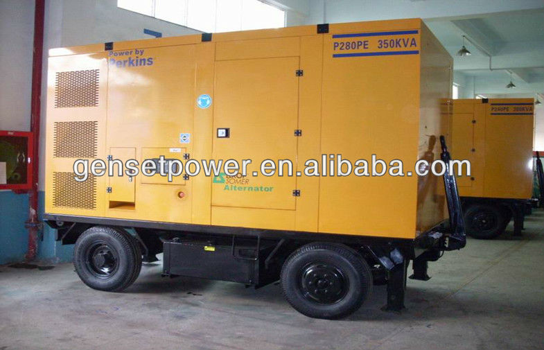 30kw to 300kw Silent Trailer Potable Generator