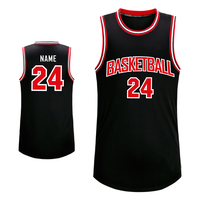 Wholesale custom mesh basketball jersey black color for Mens