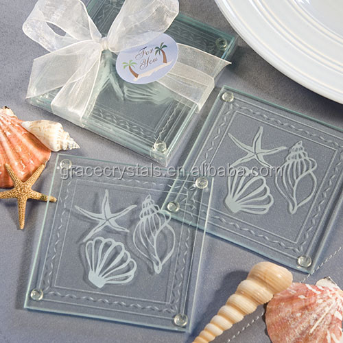 Summer themed wedding souvenirs tour souvenirs glass coasters souvenir