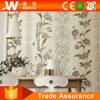 Wholesale Italian Wallpaper Elegant Flower Home Decorative Wall Paper