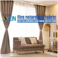 Flame Retardant 100% Polyester Printed Faux Linen Multi Color Fabric For Curtain, Sofa, Hptel Carpet