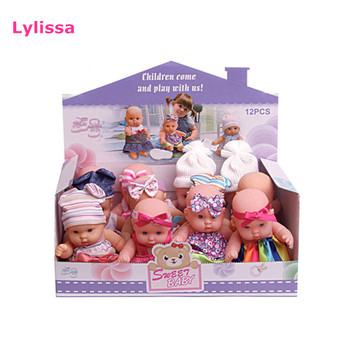 Factory Supply Hot Sale 7 Inch Vinyl Baby Doll Toy with Display Box 12 Pcs /Box