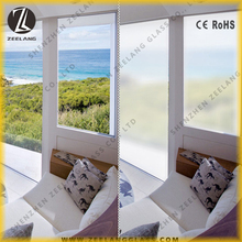 Tempered self-adhesive conductive smart glass sheet pdlc ito film for building instruction