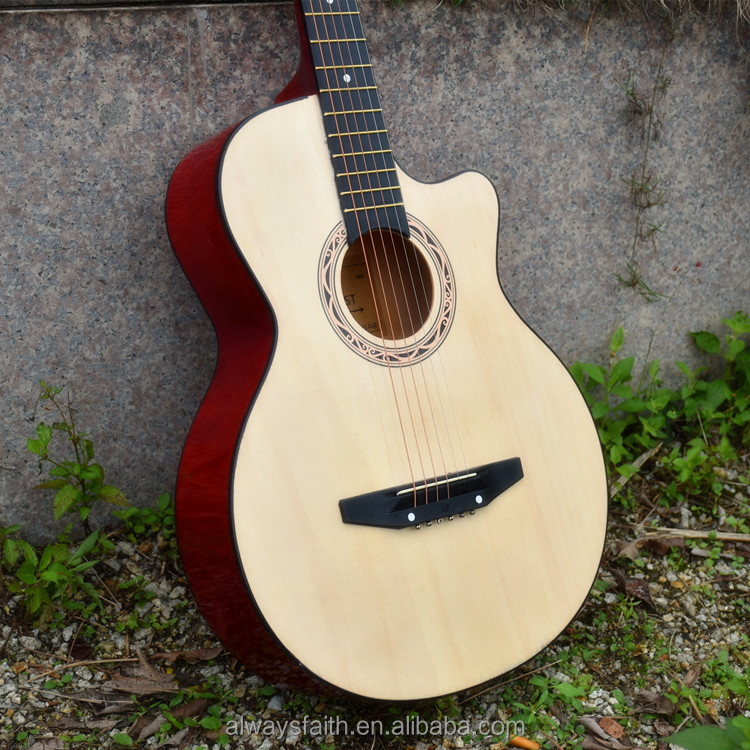 Wholesale high quality 38 inch folk acoustic guitar