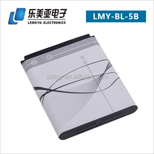 China factory cell phone battries lowest price all models mobile phone used high quality battery bl 5b battery for Nokia