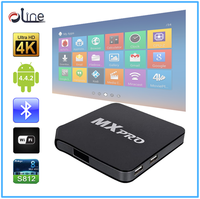 High speed 802.11b/g/n mqx android tv box smart tv android ott box tv box mx pro