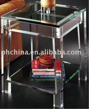 Clear Acrylic Lucite Plexiglass End Table