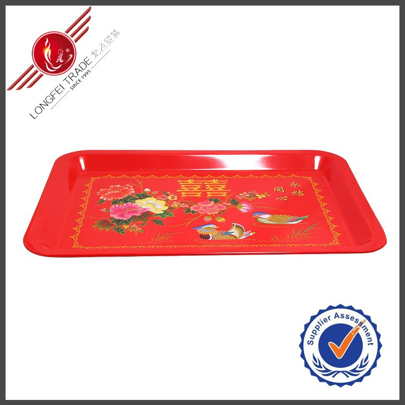 Discount Chinese Traditional Enamel Square&Round Shape Tray
