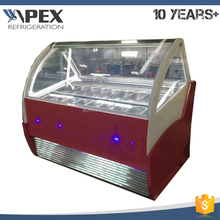 China hot selling 360L capacity fan cooling system popsicle display gelato batch freezer