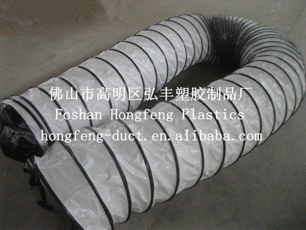 Pvc Air Duct : Pvc flexible exhuast duct with wire air conditioning