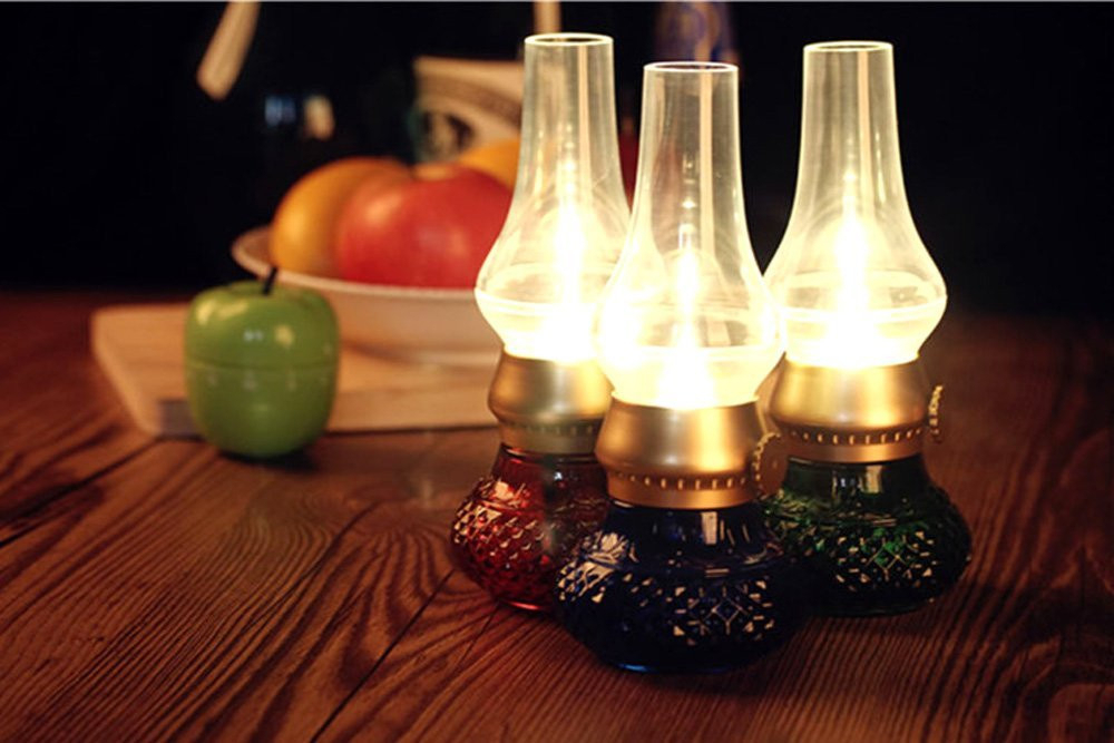 Crazy sale popular ! Blowing Control LED Night Lighting / Led Night Light kerosene lamp