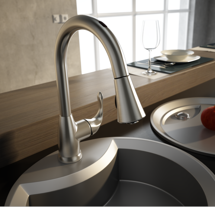 Three Ways Activation Sensor Kitchen Mixer Tap