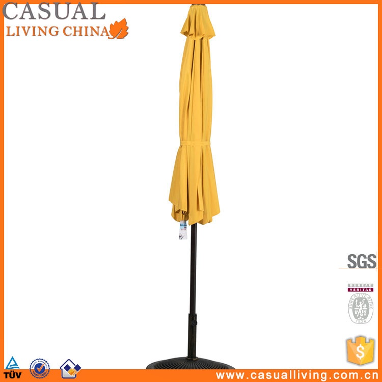 Yellow Patio 10ft outdoor waterproof fabric Umbrella with Tilt and Crank, 8 Steel Ribs, patio Umbrella