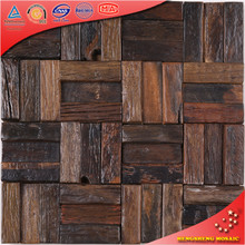 MK1213 Old Special Design Vintage Mosaic Old Boat Wood 3D Wall Panels